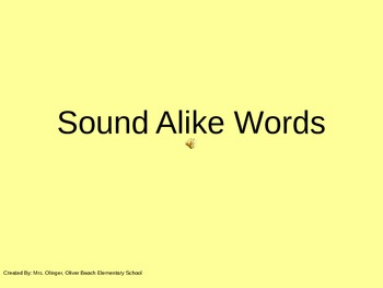Sound Alike Words
