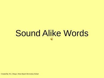 Sound Alike Words