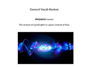 Sound And Light Vocab Review Powerpoint