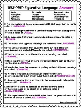 NO PREP Figurative Language Quiz