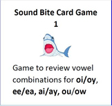 Sound Bite Game for Vowel Combinations ea/ee, oi/oy, ou/ow, ai/ay