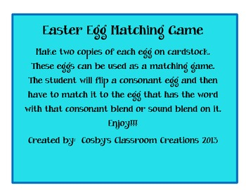 Sound Blend Easter Egg Matching Game