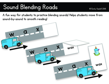 Sound Blending Roads for Beginning Readers