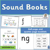 Phonics Sound Books complement programs like Jolly Phonics. (SASSOON)