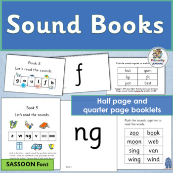 Phonics Sound Books complement programs like Jolly Phonics. (SASSOON)