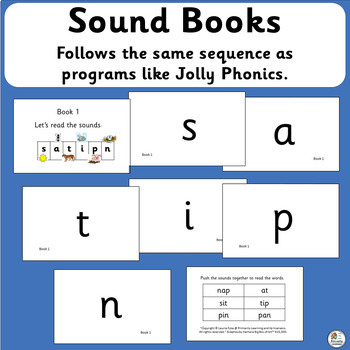 Sound Books that support Jolly Phonics | SASSOON Font
