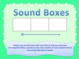 Sound Box Template 3-4-5 Sounds Plus Word Lists for Word Study