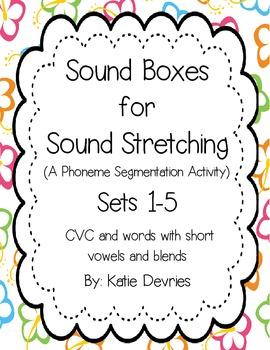 Sound Boxes Set 1-5 CVC Words and Short Vowel Blends