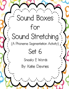 Sound Boxes Set 6 Sneaky E Words