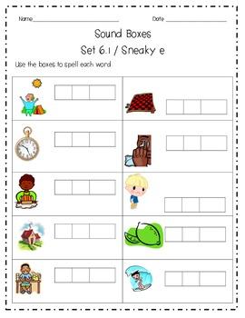 Sound Boxes Set 6 Sneaky E Words
