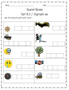 Sound Boxes Set 8 Digraphs ee and ea