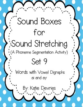 Sound Boxes Set 9 Digraphs ai and ay