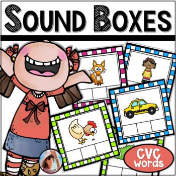 Sound Boxes - Short Vowel Task Cards {for Pre K and Kindergarten Students}