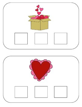 Sound Boxes -Valentine's Addition {A Phoneme Segmentation Activity}
