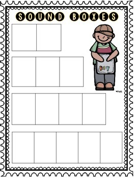 elkonin boxes template - sound boxes and analogy chart for guided reading by