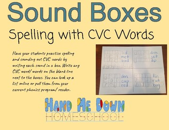 Sound Boxes for CVC Words