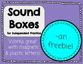 Sound Boxes for Independent Practice -AN FREEBIE