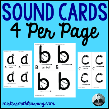 Sound Cards (4 per page to give teachers more options)