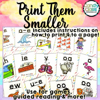 Phonics Posters with Chants for Phonemic Awareness & Phonics Activities