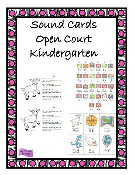 Sound Cards - Open Court Kindergarten