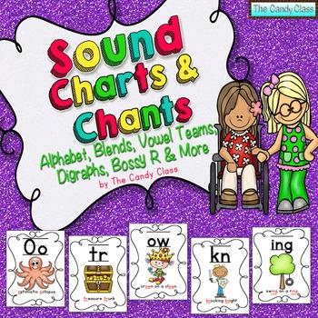 Sound Charts & Chants Save Ink Option {Phonemic Awareness & Phonics Activities}