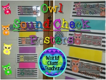 Sound Check Owl Posters