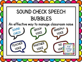Sound Check - Speech Bubbles