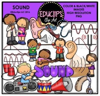 Sound Clip Art Bundle  {Educlips Clipart}