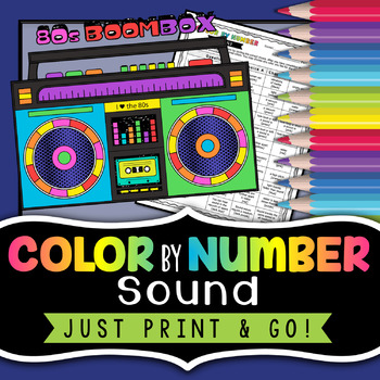 Sound Color by Number - Science Color By Number