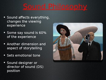 Sound Design, Music and Recording in Movies PowerPoint