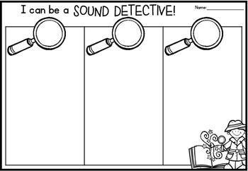 Sound Detective Worksheets