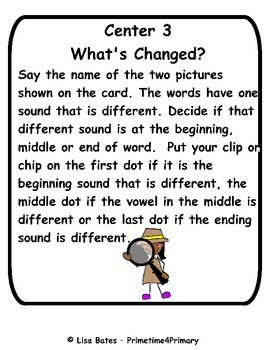 Sound Detectives Clip or Chip Phonics Centers