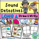 Sound Detectives LONG A Draw & Solve Activities CENTERS Phonics Program
