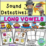 Sound Detectives LONG VOWELS Draw & Solve Activities CENTERS