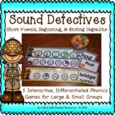 Sound Detectives Phonics Game - Short Vowel, Beginning & E