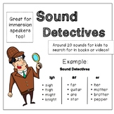 Sound Detectives -- Search for words with the sound in books!