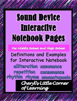Sound Device for Interactive Notebook