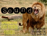 Sound Energy {Differentiated Close Reading Passages & Comprehension Questions}