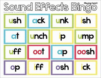 Sound Effects Phonics Bingo