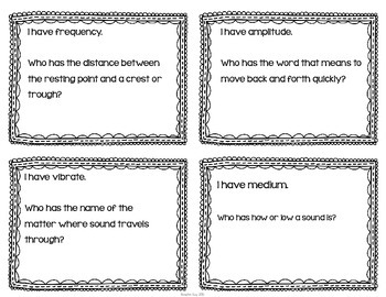 """Sound Energy Interactive Vocabulary Game """"I Have, Who Has?"""" Cards"""