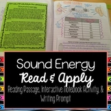 Sound Energy Reading Comprehension Interactive Notebook