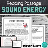 Sound Energy Reading Comprehension Passage
