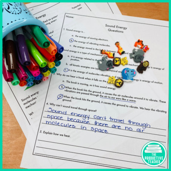 Sound Energy: Reading Passage and Comprehension Questions