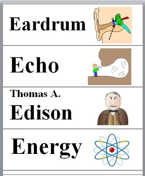 Sound Energy Illustrated Science Word Wall