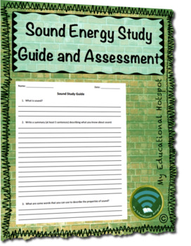 Sound Energy Study Guide and Assessment Bundle