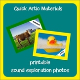 Sound Exploration Photos ~ Speech Therapy