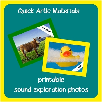 Sound Exploration Photos ~ Speech Therapy