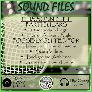Sound File Horror Ambience Style