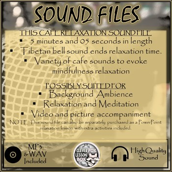 Sound File Park Cafe Soundscape
