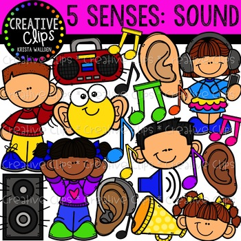 Sound: Five Senses Clipart {Creative Clips Clipart}